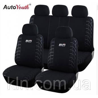 Универсальные автомобильные чехлы для салона джипа, кроссорвера AUTOYOUTH  Wheel Black & Gray Big