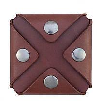 Монетница ручной работы из кожи Краст VOILE cn3-kcog, фото 3