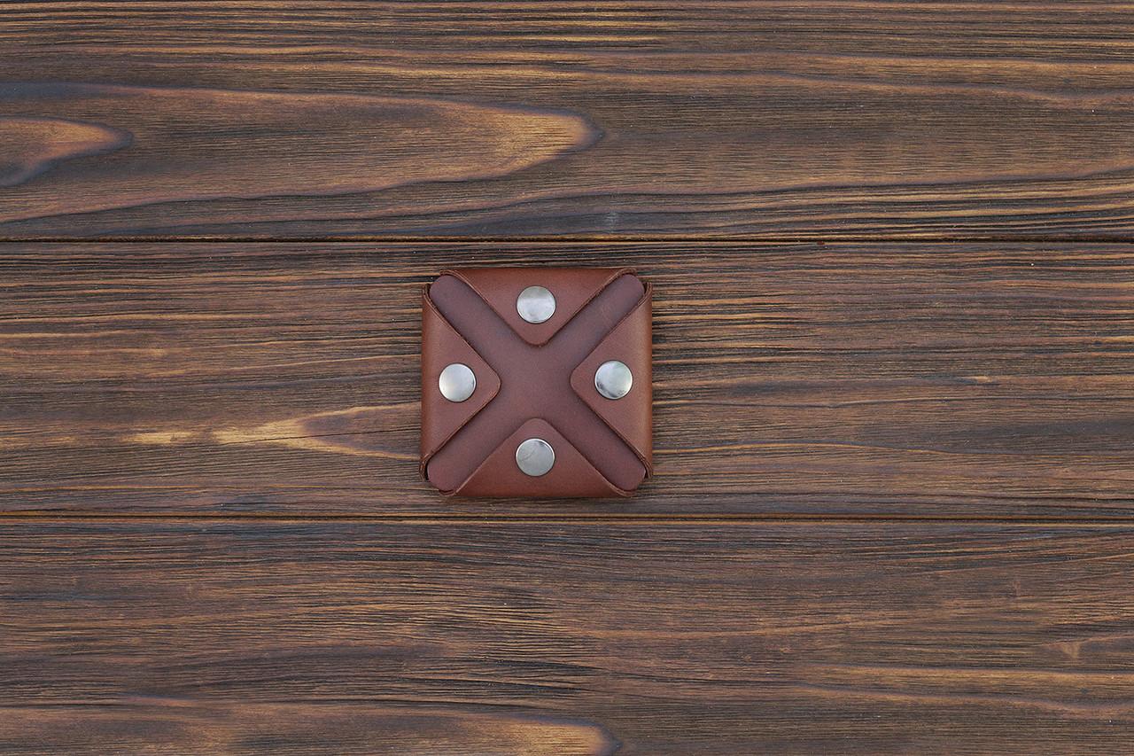Монетница ручной работы из кожи Краст VOILE cn3-kcog