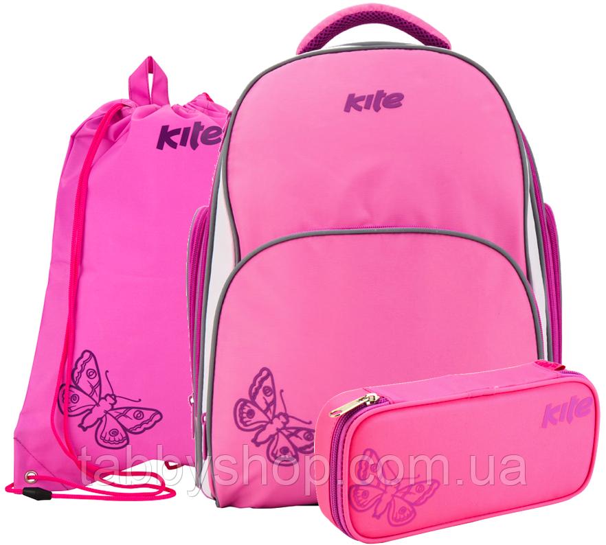 Рюкзак школьный ортопедический KITE 705-1 с наполнением (3 предмета)