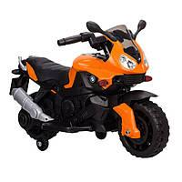 Детский мотоцикл Tilly T-7219 BMW, черно-оранжевый