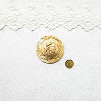 Соломенная Шляпа для Кукол и Игрушек 5 см