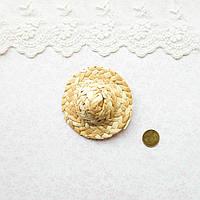 Соломенная Шляпа для Кукол и Игрушек  6.5 см