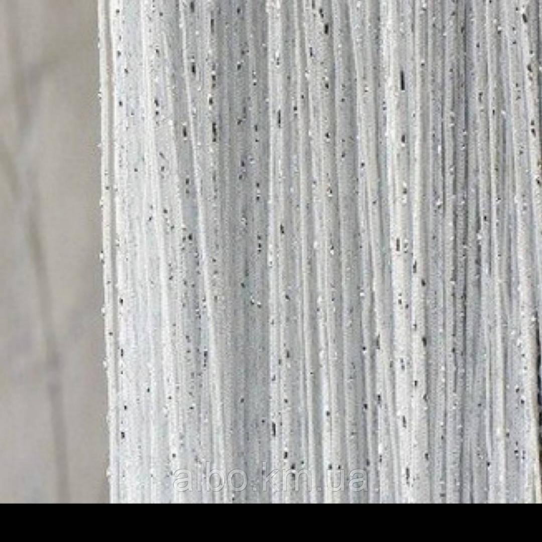 Нитяные шторы Кисея с люрексом 300x280 cm Белые (Ki-7)