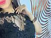Кружевной женский комбинезон с сеткой белый, пудра, фото 7