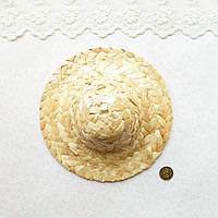 Соломенная Шляпа для Кукол и Игрушек 15 см