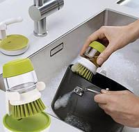 Кухонная щетка, очиститель для посуды с диспенсером для моющего средства soap brush