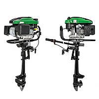 Мотор лодочный GrunWelt GW-200FD оригинал (подвесной, четырехтактный, 6,5 л. с.)