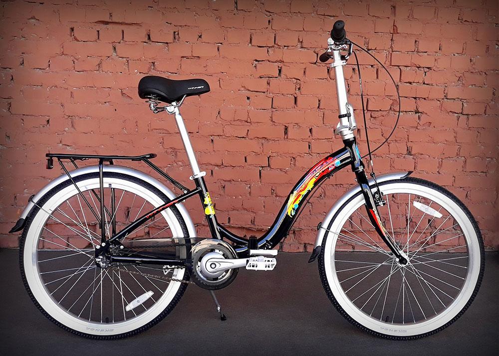 """Велосипед складной Winner Ibiza 24"""" черный"""