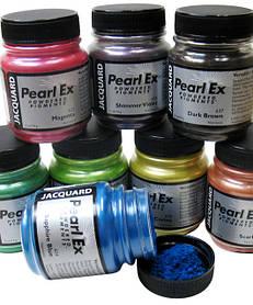 Перлекс PearlEx - пигменты США имитация металла, мика пудра