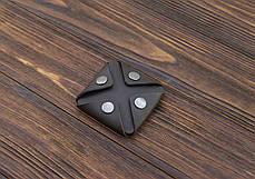 Монетница ручной работы из кожи Краст VOILE cn3-kbrn, фото 2