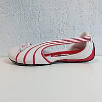 Балетки женские белые с красным Puma ESPERA 303418-02 оригинал код 121А