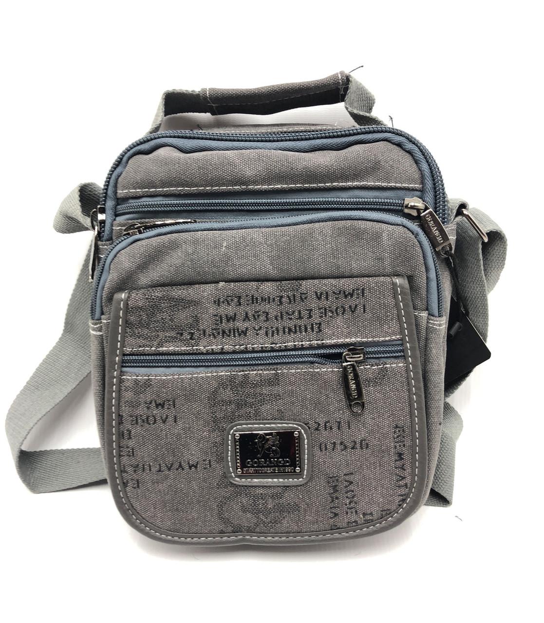 Мужская сумка через плече Gorangd серый (021/2)