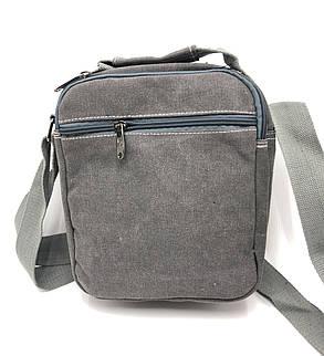 Мужская сумка через плече Gorangd серый (021/2), фото 2
