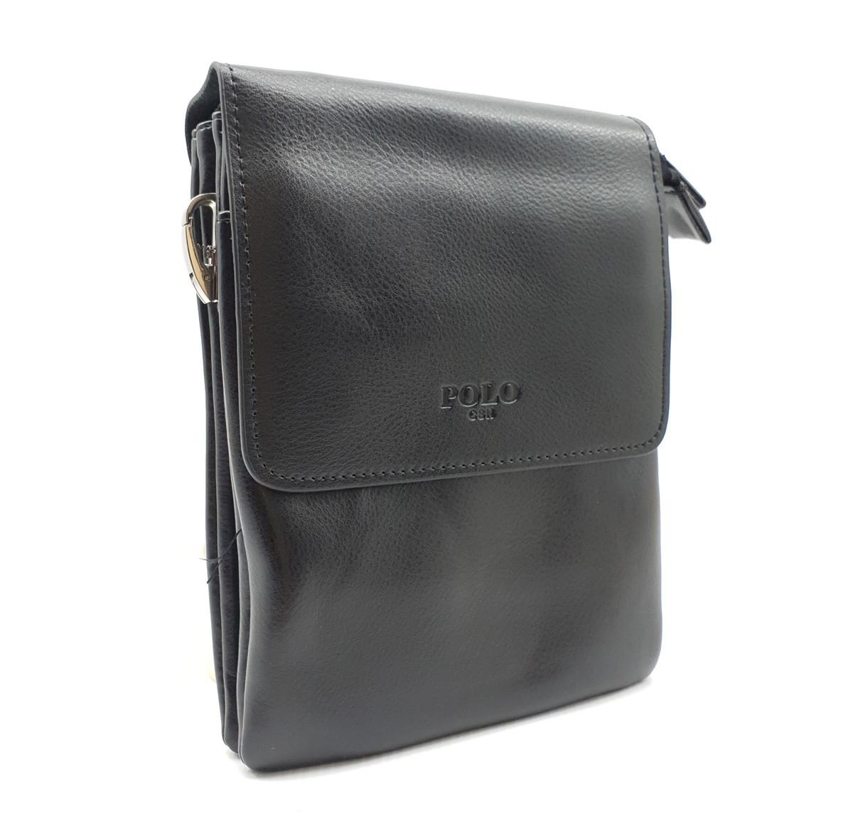 Маленькая мужская сумка POLO из качественной кожи PU(b1392-2)