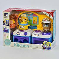 Кухня детская с посудой Звуковые эффекты Белый с фиолетовым (2-818-92-73402)