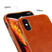 Защитный чехол для iPhone Xs Max 6.5 'натуральная кожа винтаж коричневый, фото 3