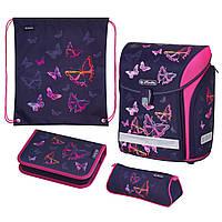 50020416 Ранец школьный укомплектованный Herlitz MIDI PLUS Butterfly Rainbow Бабочки