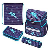 50020522 Ранец школьный укомплектованный Herlitz LOOP PLUS Dolphin Дельфин