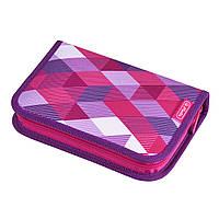 50020973 Пенал с наполнением 31 предмет Herlitz Cubes Pink Кубики розовые