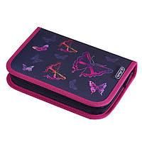 50020867B Пенал с наполнением 19 предметов Herlitz Butterfly Rainbow Бабочки