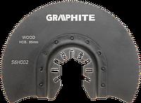 Круг 56H002 Graphite к многофункциональному инструменту, полукруглый HCS по дереву, диаметр 85 мм.