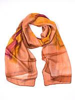 Шарф коричневый, натуральный шелк, производство Индии