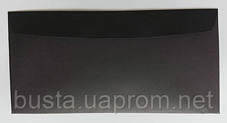 Конверт черный глянцевый 90гр евро-формат
