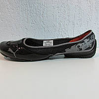 Балетки женские черные лаковые Puma 302784-06 оригинал код 123А