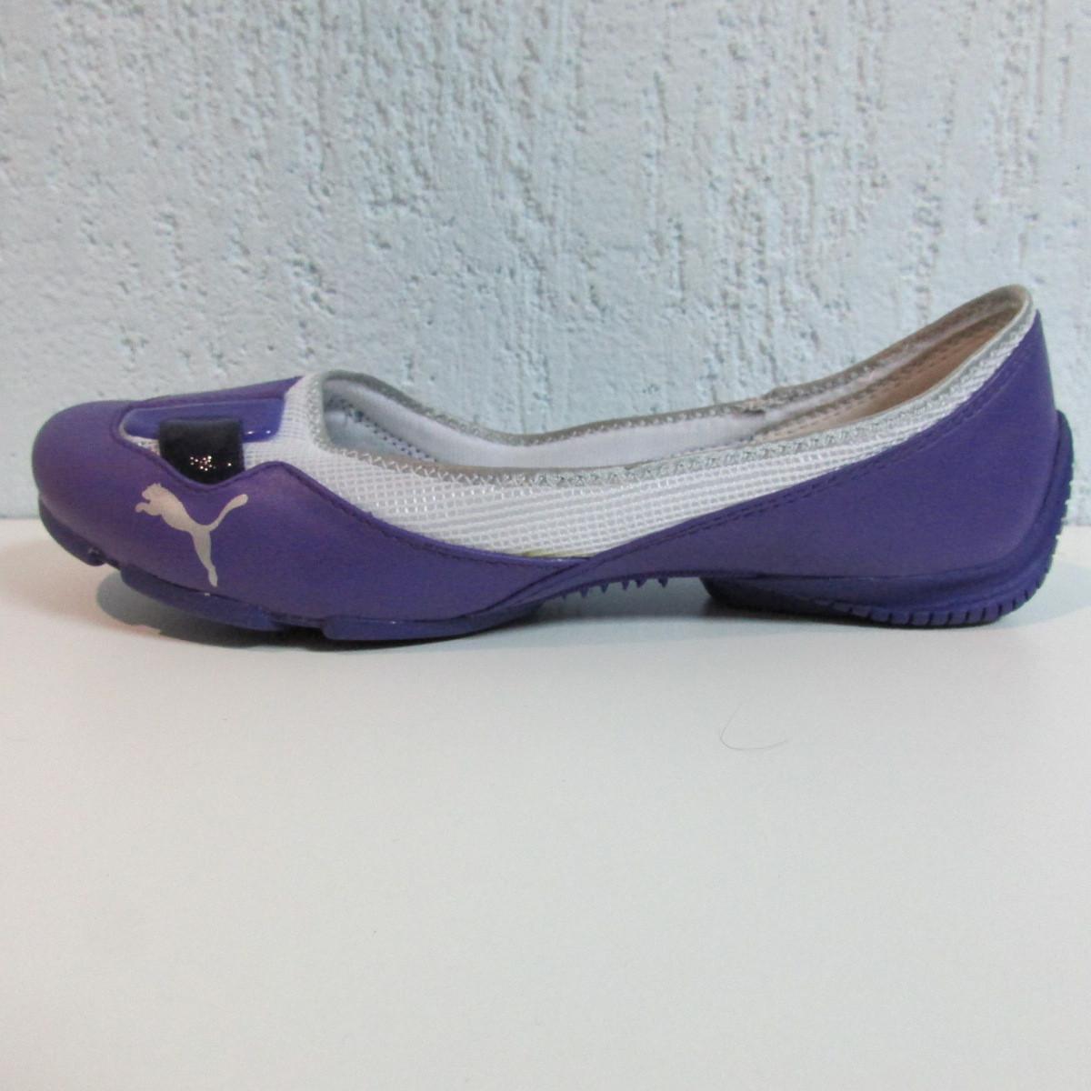 266bd7a41cee Балетки женские фиолетовые с белым Puma 303405-04 оригинал код 124А -  Интернет-магазин