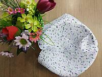 Хлопок для рукоделия Сиреневые мелкие цветочки на белом фоне. Размер 20*25 см