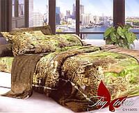 Комплект постельного белья евро CY13055 ТМ TAG Evro, постельное белье Евро