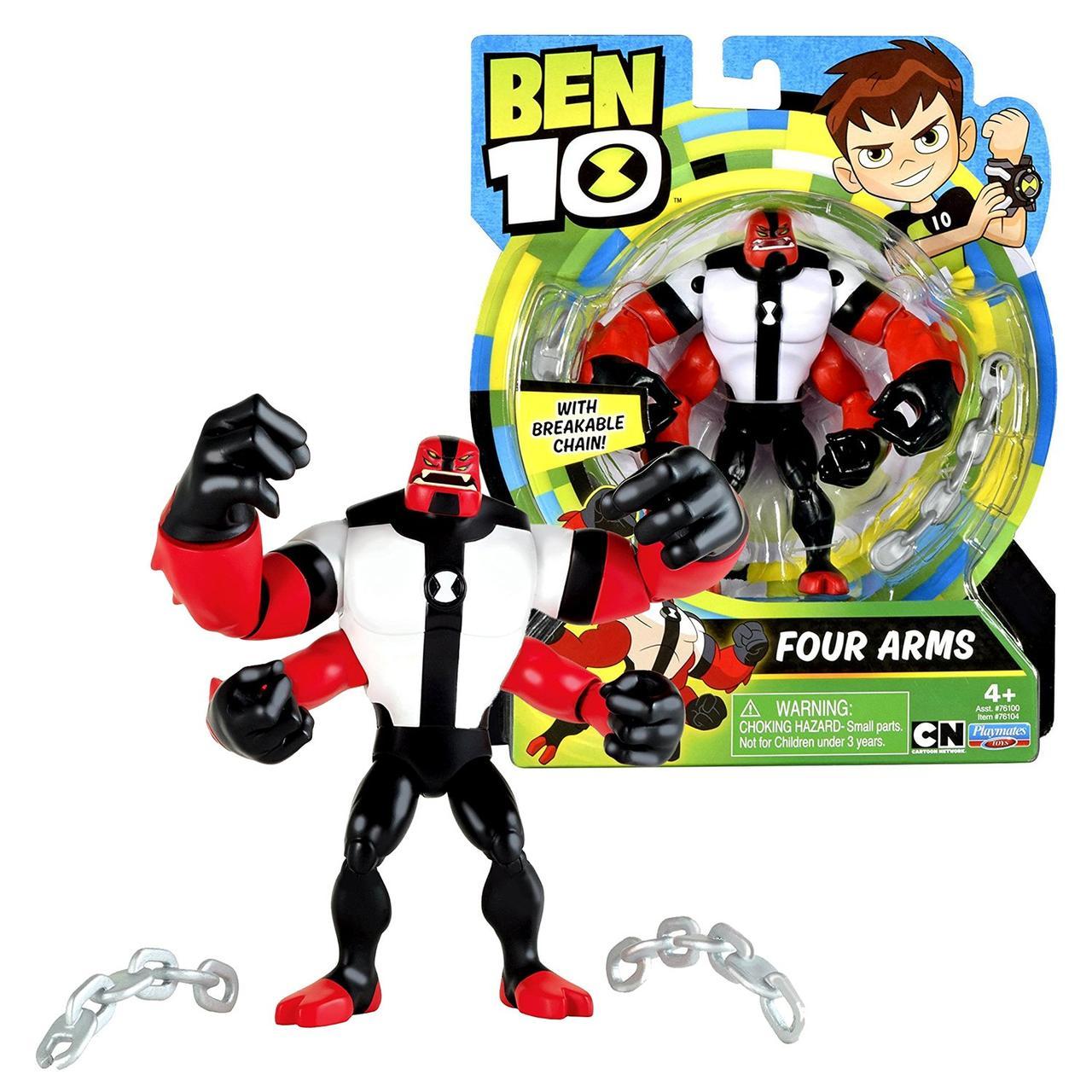 Бен 10 Фигурка силач, перезагрузка, Ben 10, Basic Four Arms, оригинал из США, фото 1