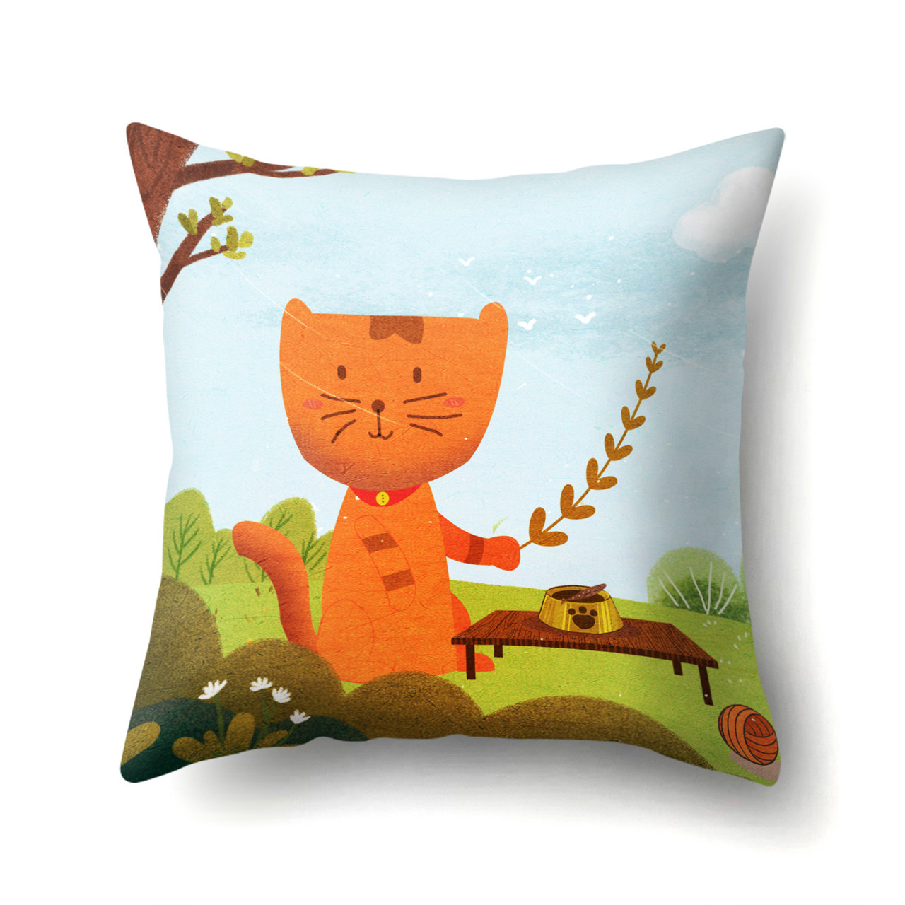 Подушка декоративная Кот на пикнике 45 х 45 см Berni