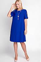 Летнее платье большого размера «Гаяна» (Полынь, пудра, электрик | 48, 50, 52, 54, 56)