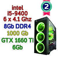 Игровой компьютер / ПК  ( intel i5-9400F (6 x 4.1GHz) \ B360 \ 8Gb DDR4 \ 1 Tb \ GTX 1660 Ti 6Gb \ 500W)