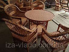 Набор плетёной мебели из лозы «Простый 8»: круглый стол, 4 кресла, фото 3