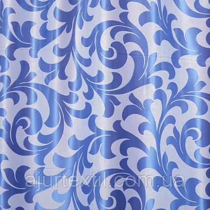 """Штора блэкаут """" Превосходство"""" сине голубая, фото 2"""
