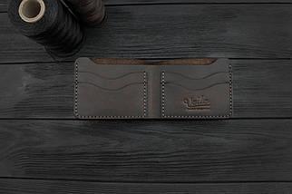 Мужской кожаный бумажник ручной работы VOILE коричневый (966480341), фото 3
