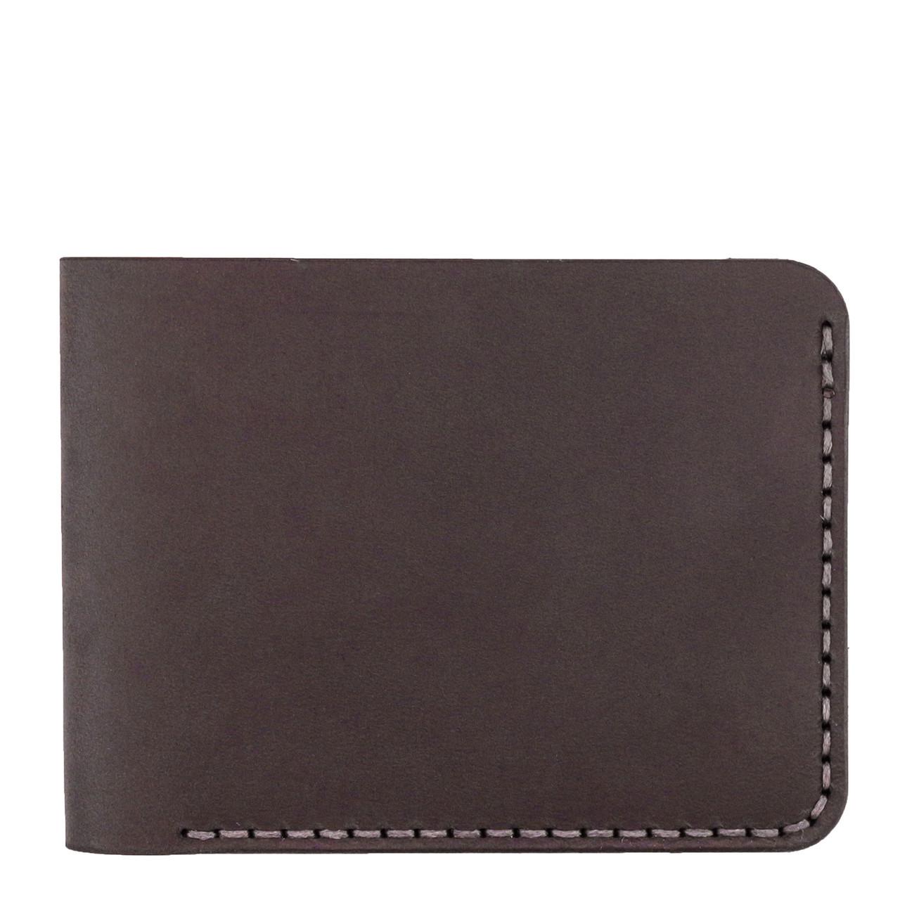 Мужской кожаный бумажник ручной работы VOILE коричневый (966480341)