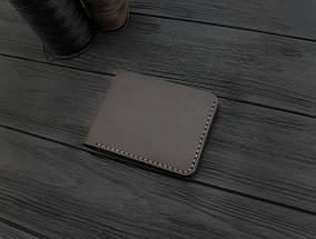 Мужской кожаный бумажник ручной работы VOILE коричневый (966480341), фото 2