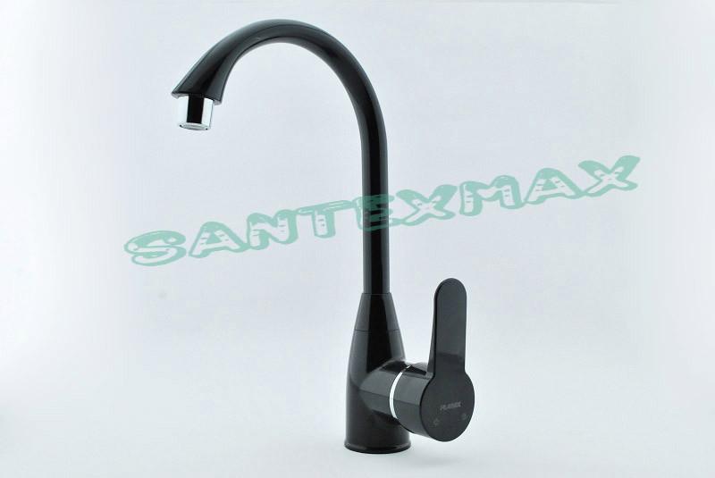 Смеситель для кухни из термопластичного пластика Plamix Mario-011 black