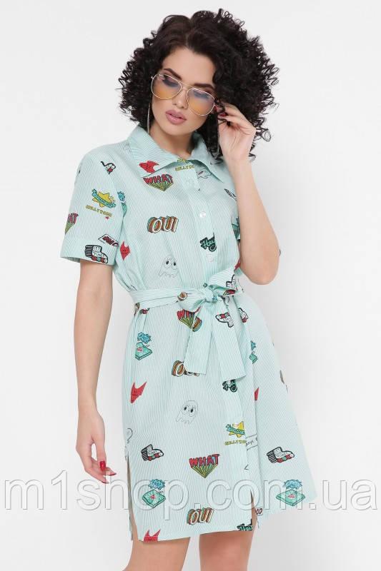 Женское хлопковое платье-рубашка (Sophiefup)