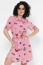 Женское хлопковое платье-рубашка (Sophiefup), фото 2