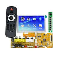 "Мультимедийный плеер LCD 4.3"" FM, Bluetooth 4.2, DTS FLAC APE AC3 WAV MP3, USB, SD"