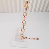 Позолоченный женский браслет.