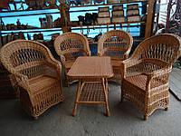 """Плетеная мебель из лозы. Набор """"Капля Ажур 3"""""""