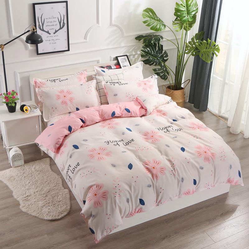 Комплект постельного белья Цветок любви с простынью на резинке (полуторный) Berni