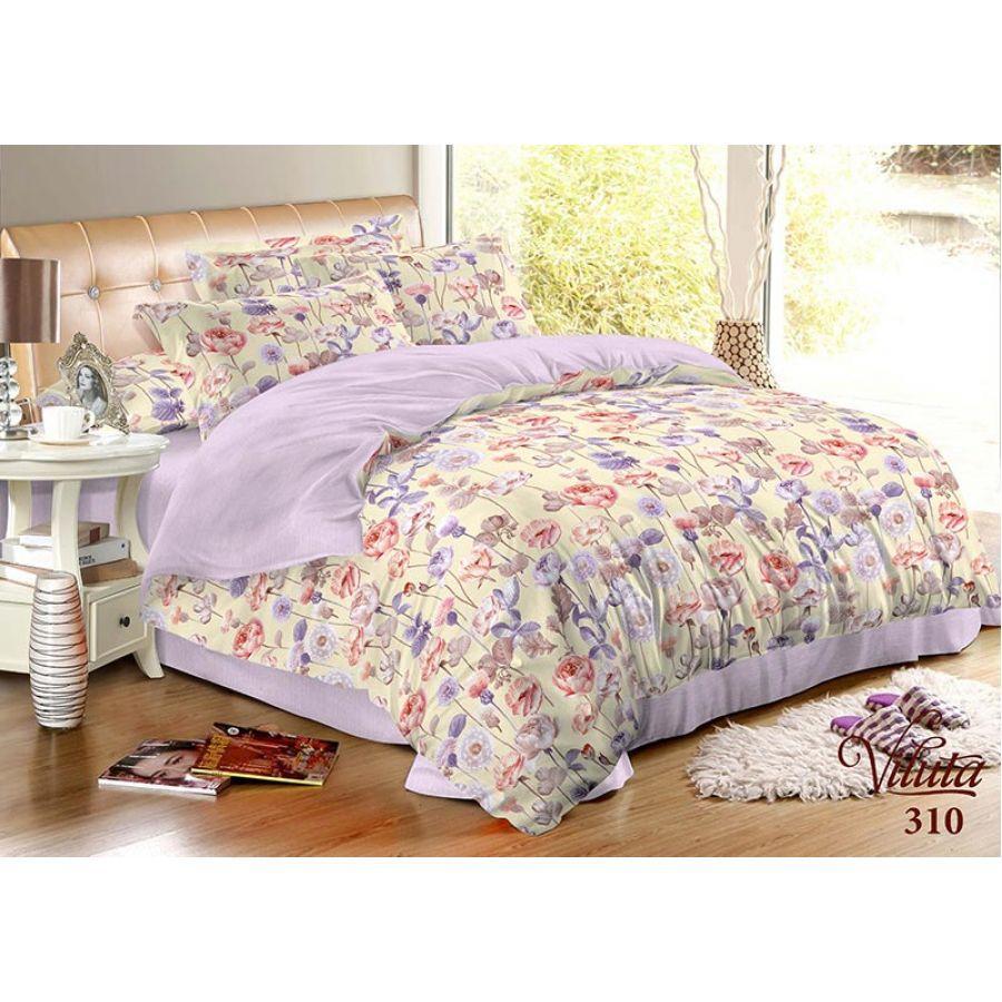 Полуторный комплект постельного белья Вилюта 310, сатин твил