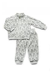 Костюм флисовый 'Мишки' для маленького мальчика, размеры 68-98, Модный карапуз 74